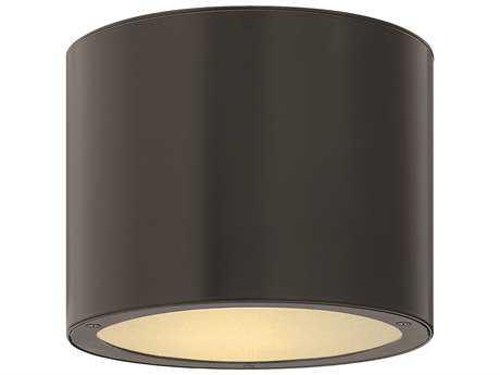 Hinkley Lighting Luna Satin Black Incandescent Outdoor Ceiling Light