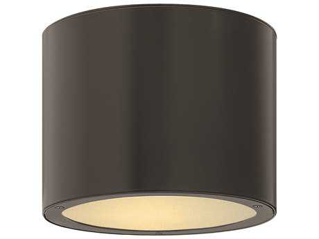 Hinkley Lighting Luna Satin Black LED Outdoor Ceiling Light