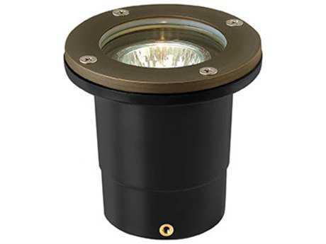 Hinkley Lighting Hardy Island Matte Bronze 4'' Wide 2700K LED (60 Watt Equivalent) Outdoor Landscape Flat Top Well Light