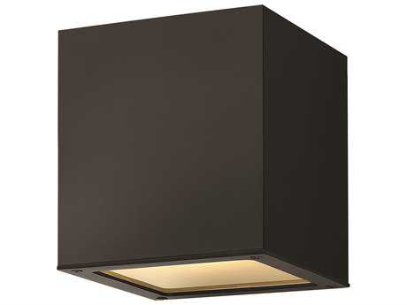 Hinkley Lighting Kube Satin Black LED Outdoor Ceiling Light