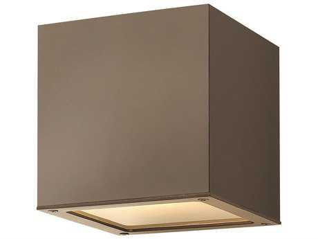 Hinkley Lighting Kube Bronze LED Outdoor Ceiling Light