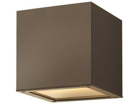Hinkley Lighting Kube Bronze Two-Light LED Outdoor Ceiling Light