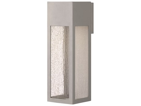 Hinkley Lighting Rook Titanium 5'' Wide Outdoor Wall Light