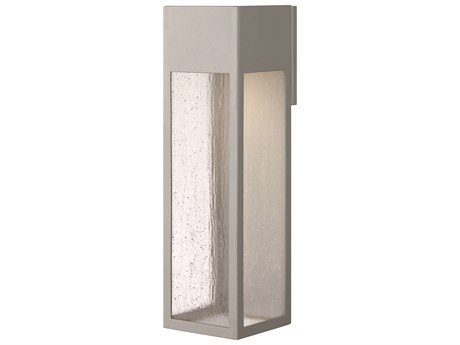 Hinkley Lighting Rook Titanium 6'' Wide Outdoor Wall Light