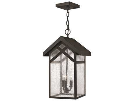 Hinkley Lighting Holbrook Black Three-Light Incandescent Outdoor Pendant Light