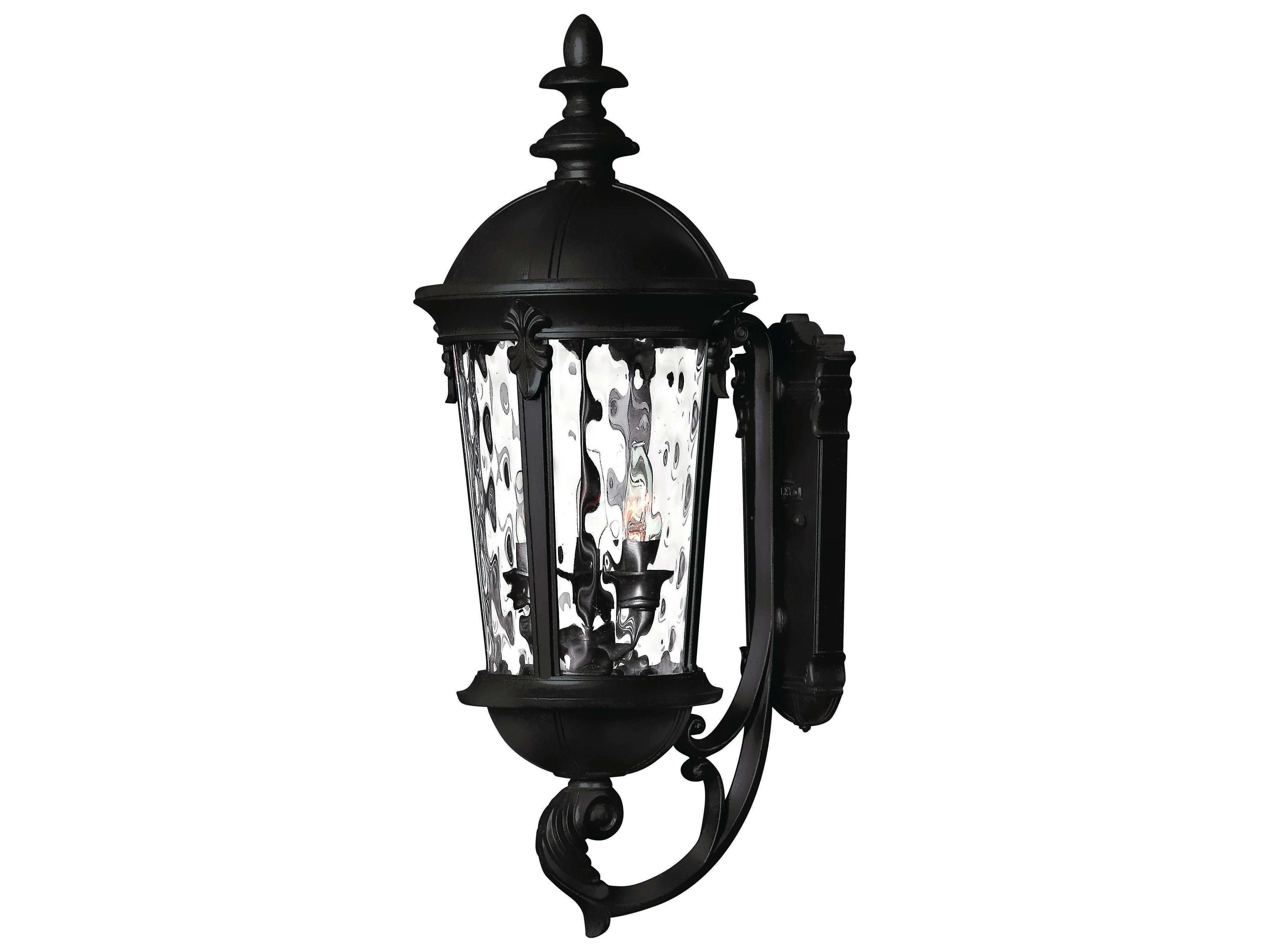 Led Outside Wall Lights Black : Hinkley Lighting Windsor Black LED Outdoor Wall Light 1894BK-LED