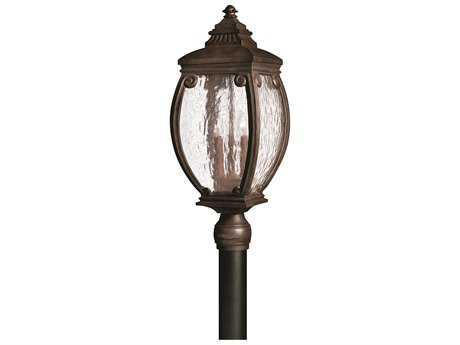 Hinkley Lighting Forum French Bronze Three-Light Outdoor Post Light