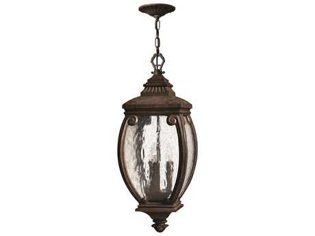 Hinkley Lighting Forum French Bronze Three-Light Outdoor Pendant Light