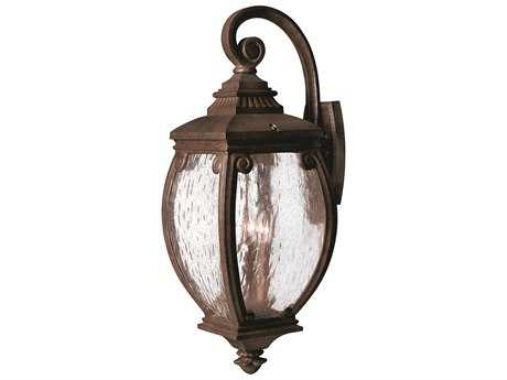 Hinkley Lighting Forum French Bronze Three-Light Outdoor Wall Light