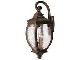 Hinkley Lighting Forum French Bronze Three-Light Outdoor Wall Light