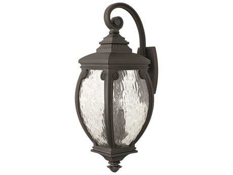 Hinkley Lighting Forum Museum Black Three-Light Outdoor Wall Light