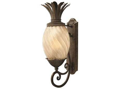 Hinkley Lighting Plantation Pearl Bronze CFL Outdoor Wall Light