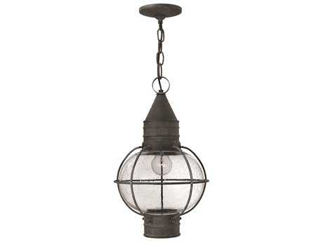 Hinkley Lighting Cape Cod Aged Zinc LED Outdoor Pendant Light
