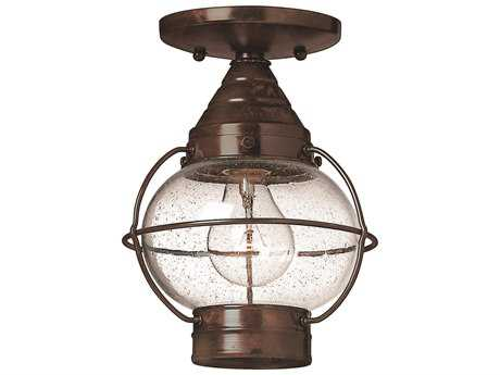 Hinkley Lighting Cape Cod Sienna Bronze LED Outdoor Ceiling Light