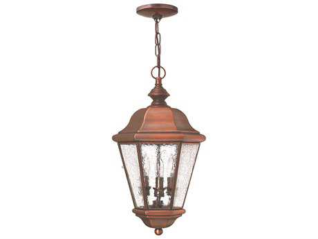 Hinkley Lighting Clifton Beach Antique Copper Three-Light Outdoor Pendant Light