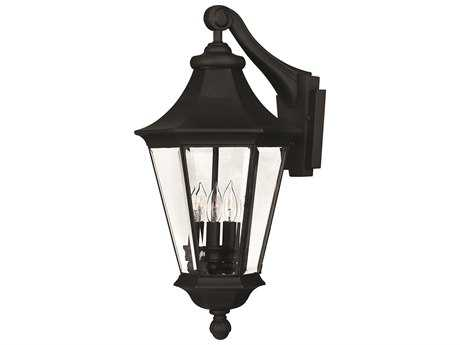 Hinkley Lighting Senator Black Three-Light Outdoor Wall Light