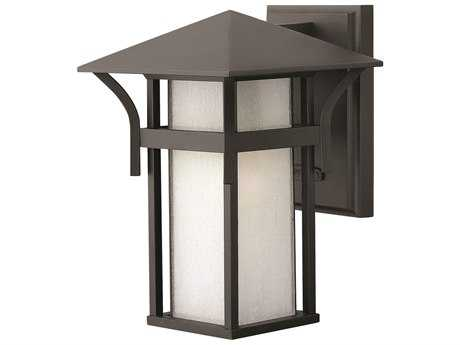 Hinkley Lighting Harbor Satin Black CFL Outdoor Wall Light