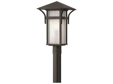 Hinkley Lighting Harbor Satin Black CFL Outdoor Post Light