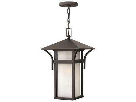 Hinkley Lighting Harbor Satin Black CFL Outdoor Pendant Light