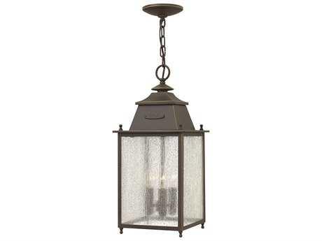 Hinkley Lighting Chatfield Oil Rubbed Bronze Three-Light Outdoor Pendant Light