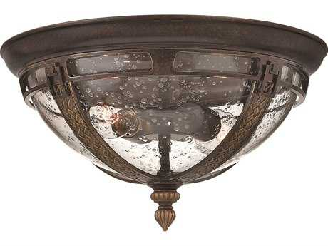 Hinkley Lighting Key West Regency Bronze Two-Light Incandescent Outdoor Ceiling Light