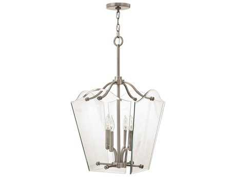 Hinkley Lighting Wingate Polished Antique Nickel Four-Light Mini-Chandelier