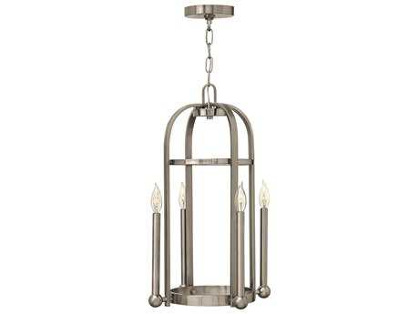 Hinkley Lighting Landon Brushed Nickel Four-Light Mini-Chandelier