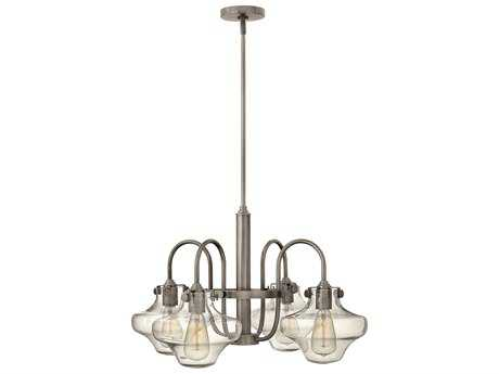 Hinkley Lighting Congress Antique Nickel Four-Light 27 Wide Chandelier