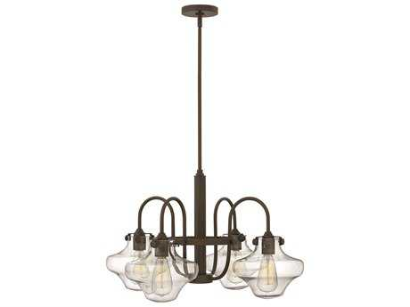 Hinkley Lighting Congress Oil Rubbed Bronze Four-Light 27 Wide Chandelier