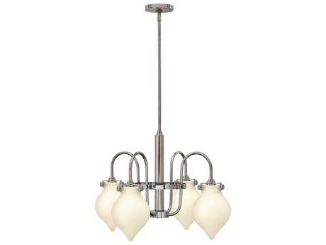 Hinkley Lighting Congress Chrome Four-Light 24.5 Wide Mini-Chandelier