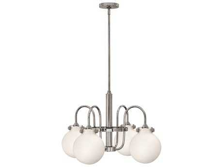 Hinkley Lighting Congress Chrome Four-Light 25.5 Wide Chandelier