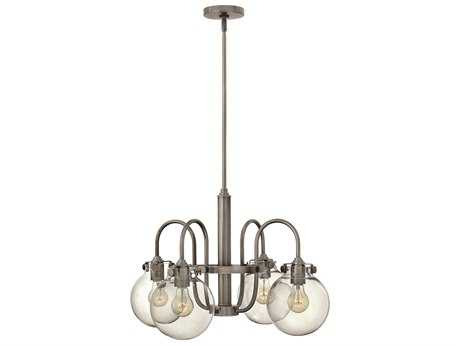 Hinkley Lighting Congress Antique Nickel Four-Light 25.5 Wide Chandelier