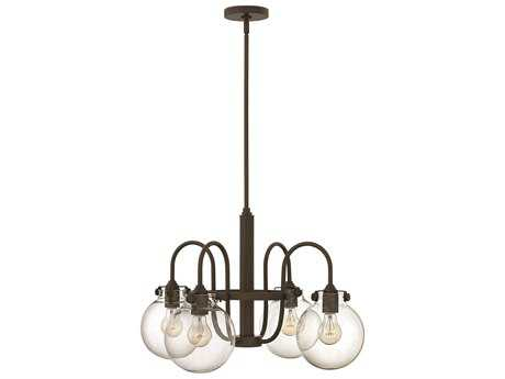Hinkley Lighting Congress Oil Rubbed Bronze Four-Light 25.5 Wide Chandelier