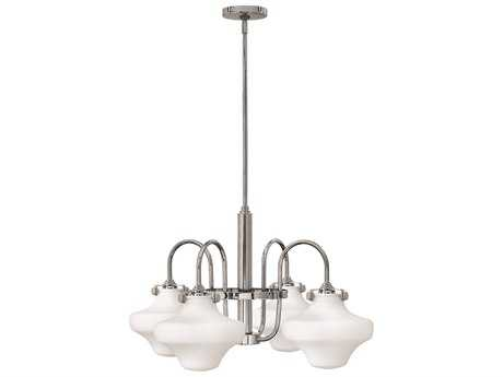 Hinkley Lighting Congress Chrome Four-Light 27 Wide Chandelier