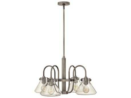 Hinkley Lighting Congress Antique Nickel Four-Light 26.25 Wide Chandelier