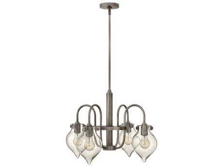 Hinkley Lighting Congress Antique Nickel Four-Light 24.5 Wide Mini-Chandelier
