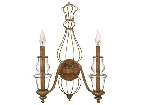 Hinkley Lighting Celine Antique Gold Leaf Two-Light Wall Sconce