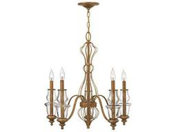 Hinkley Lighting Celine Antique Gold Leaf Five-Light 25 Wide Chandelier