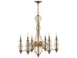 Hinkley Lighting Celine Antique Gold Leaf Six-Light 30 Wide Chandelier