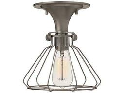 Hinkley Lighting Congress Antique Nickel Semi-Flush Mount Light