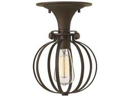 Hinkley Lighting Congress Oil Rubbed Bronze Semi-Flush Mount Light