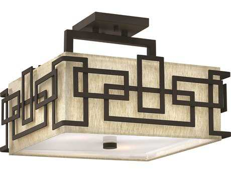 Hinkley Lighting Lanza Oil Rubbed Bronze Three-Light Semi-Flush Mount Light