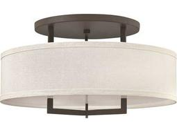 Hinkley Lighting Hampton Buckeye Bronze Three-Light CFL Semi-Flush Mount Light