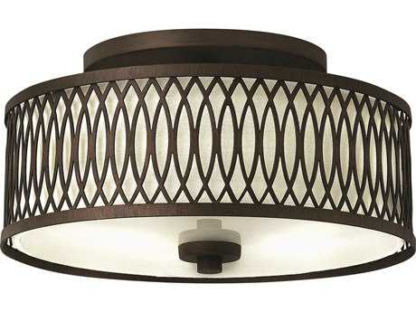 Hinkley Lighting Walden Victorian Bronze Three-Light Semi-Flush Mount Light