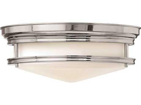 Hinkley Lighting Hadley Chrome Three-Light CFL Flush Mount Light