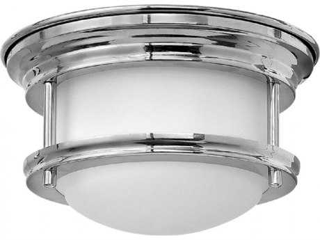 Hinkley Lighting Hadley Chrome 7.75'' Wide LED Flush Mount Ceiling Light with Quick Fit Kit