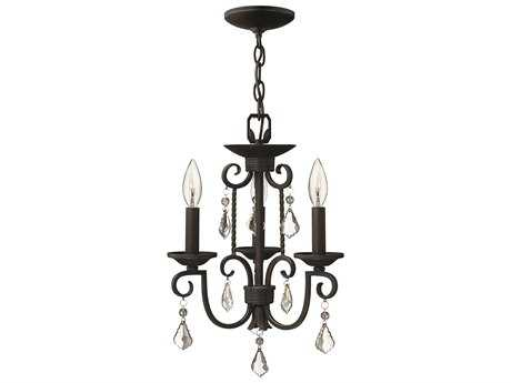Hinkley Lighting Casa Olde Black Three-Light 12.5 Wide Mini-Chandelier