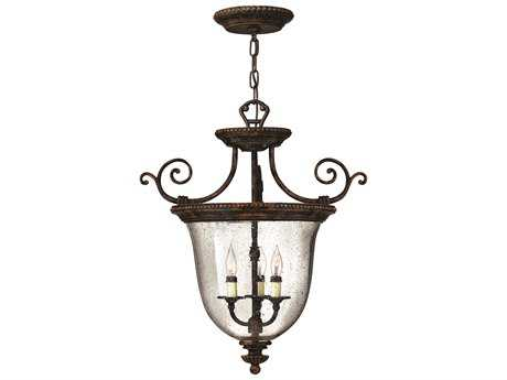 Hinkley Lighting Rockford Forum Bronze Three-Light Mini-Chandelier