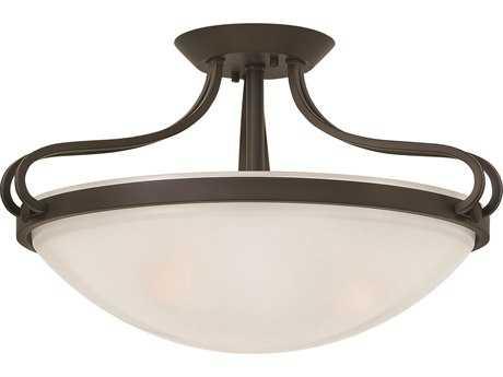 Hinkley Lighting Paxton Olde Bronze Three-Light Semi-Flush Mount Light HY3831OB