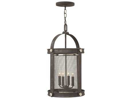 Hinkley Lighting Holden Aged Zinc Four-Light Mini-Chandelier